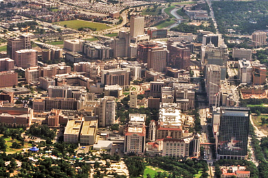 Aerial view of Texas Medical Center resized 600