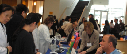 sales at scientific trade show