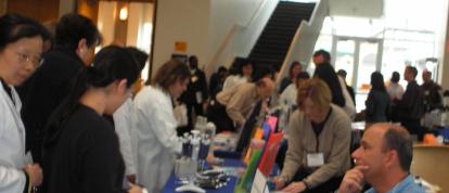 sales at scientific trade show