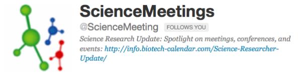 Science meetings tweets