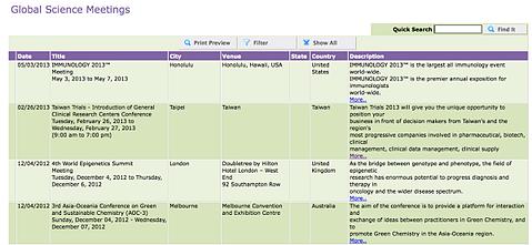 Biotechnology Event Calendar