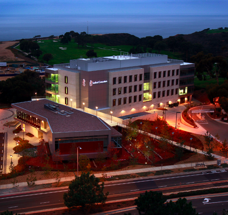 stem cell research building at night