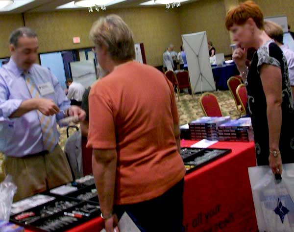 Selling lab products at Rochester Vendor Fair