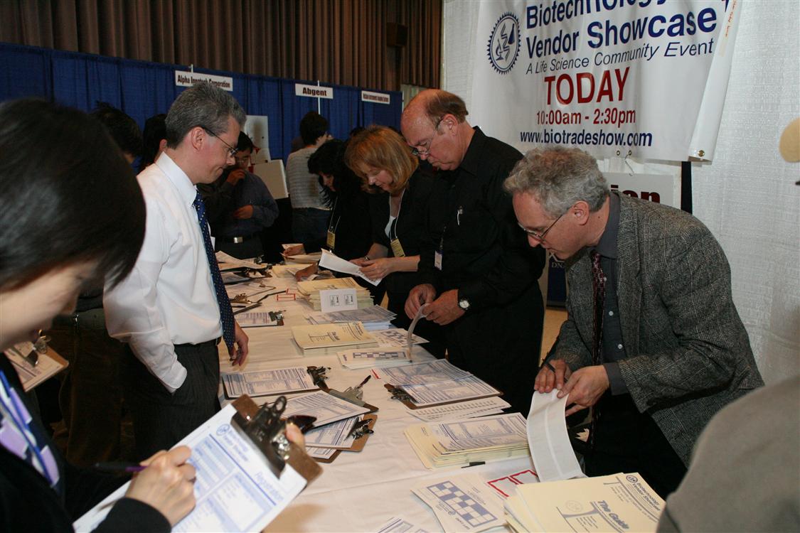laboratory product sales at UCLA vendor show