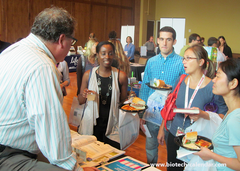 Researchers at the 2014 Madison BioResearch Product Faire™ Event learn about new products available to them.