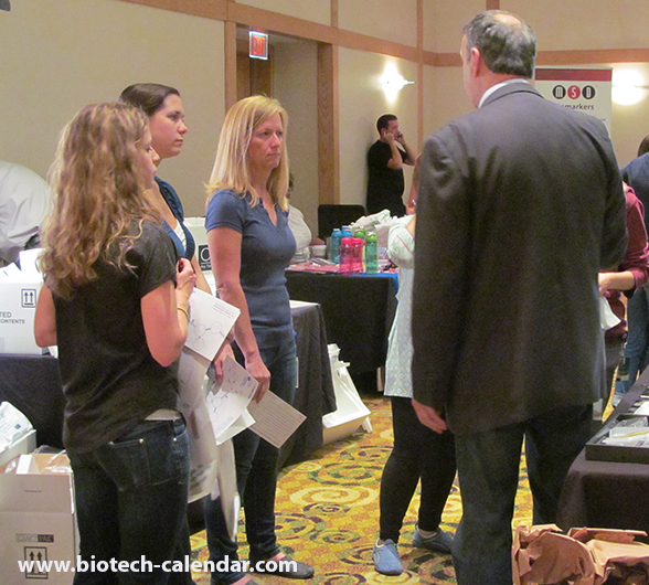 Researchers learn about new products available to their labs at the 2014 BioResearch Product Faire™ Event in Cincinnati.