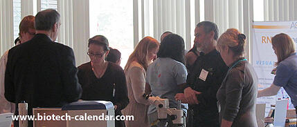Life science researchers network at a past NY BioResearch Product Faire™ Event.