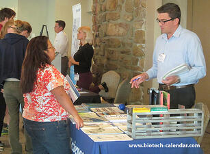Researchers and lab suppliers discuss new products to use in life science labs.