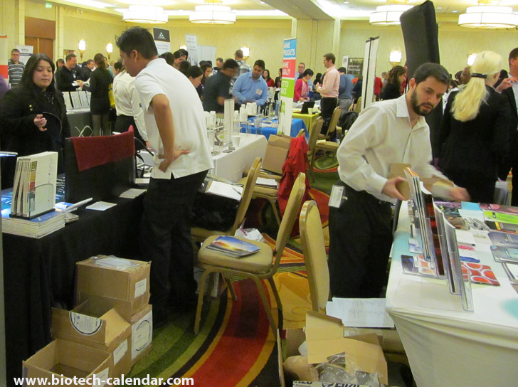 Houston event vendors were kept very busy helping life science researchers find what they need for the laboratory.