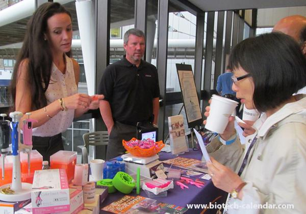 Researchers learn about new lab supplies at the 2015 BioResearch Product Faire™ Event in New York.