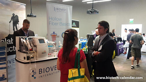 Biovest International sells lab equipment at the 2014 vendor show in Austin.