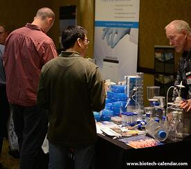 University life science researchers explore new laboratory equipment and products.