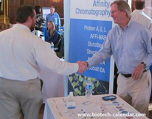 Exhibitors make new connections at the Georgetown University BioResearch Product Faire™ event.