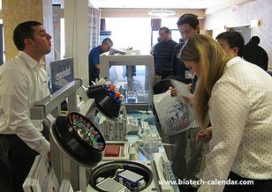 Researchers talk to exhibitors about what they need in the laboratory.