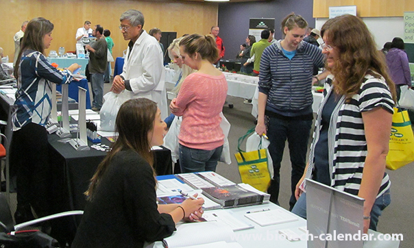 Lab suppliers and life science researchers network at the 2014 Tucson BioResearch Product Faire™ Event.