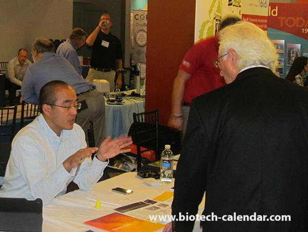 Lab suppliers demonstrate products to New York area researchers at the 2014 BRPF™ event.