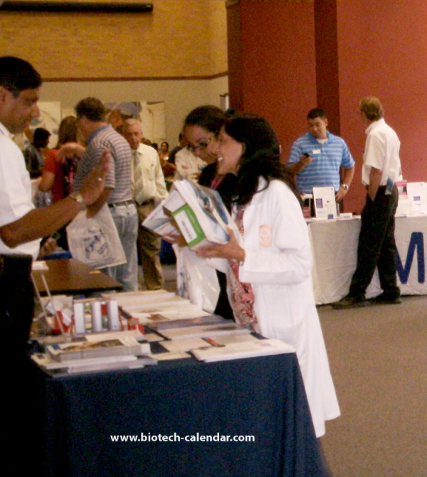 life science researchers at show