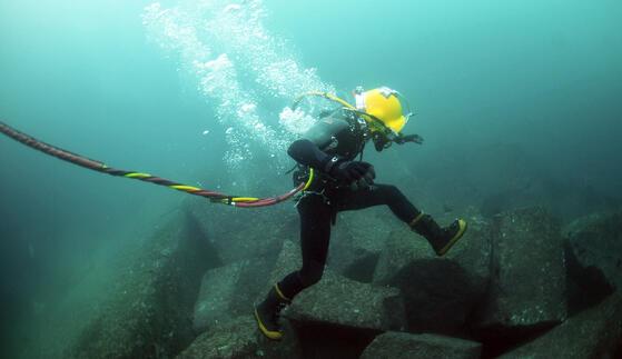 underwater researcher