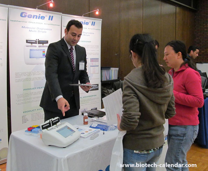 Researchers learn about new lab supplies at a past BioResearch Product Faire™ Event in Chicago.