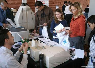 Researchers at a past BioResearch Product Faire™ Event in Atlanta learn about newly available lab products.