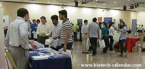 Life sciencetists learn about available lab supplies at a past BioResearch Product Faire™ Event.
