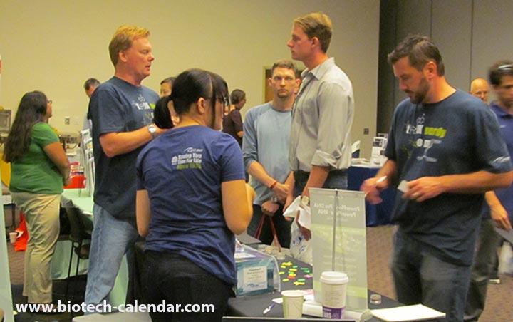 Researchers at a past BioResearch Product Faire™ Event find new lab supplies.