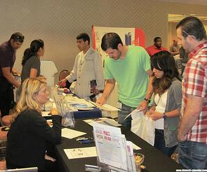 Sacramento researchers learn about new products at a past BioResearch Product Faire™ Event.