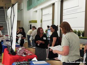 Researchers learn about new products at the 2014 BioResearch Product Faire™ in Reno.