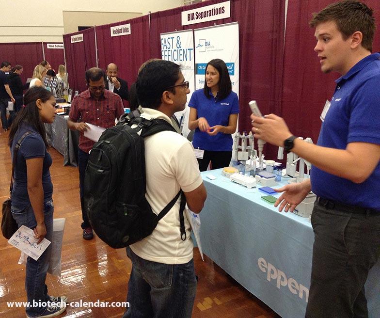 Biotechnology vendor showcase, UCSD, San Diego, 2015