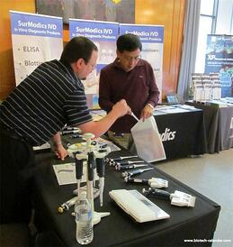 Lab suppliers meet with Durham researchers at the 2014 BioResearch Product Faire™ Event.