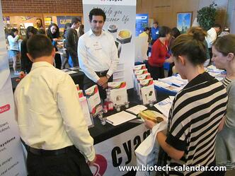 Researchers discover new lab supplies at the 2014 BioResearch Product Faire™ Event in Berkeley, CA.
