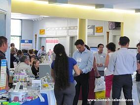 Life science researchers learn about new lab supplies at a past BioResearch Product Faire™ Event at UC Irvine.