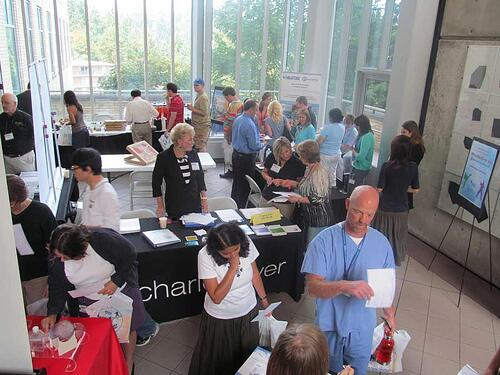 Researchers discover new lab supplies at the 2015 BioResearch Product Faire™ Event in Portland.
