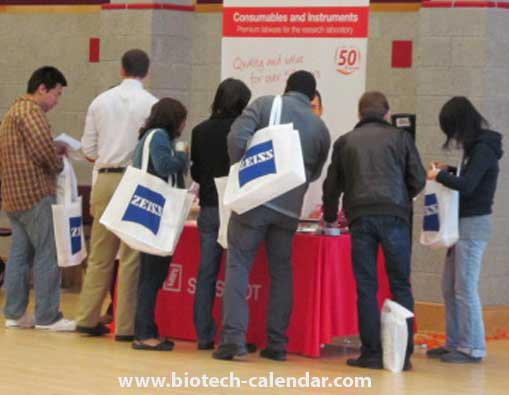 Researchers learn about new lab supplies available to them at a New York BioResearch Product Faire™ Event.