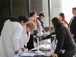 Bioresearchers meet with a lab supply company at a past BioResearch Product Faire™ Event in New York.