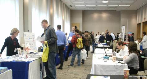 Researchers find new lab supplies at a past BioResearch Product Faire™ Event in St. Louis.