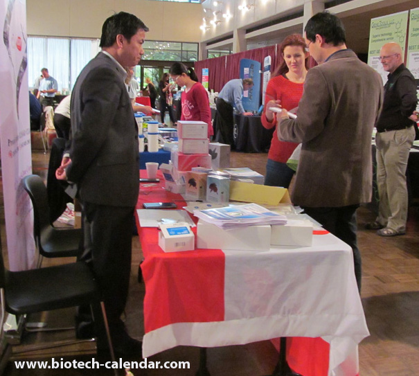 Researchers learn about the best and newest lab supplies at a past Texas BioResearch Product Faire™ Event.