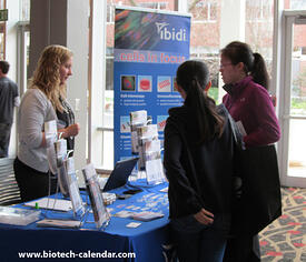 Researchers learn about new lab supplies at a past Athens BioResearch Product Faire™ Event.