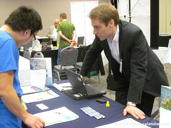 Researchers discover new products at the 2014 BRPF™ event.