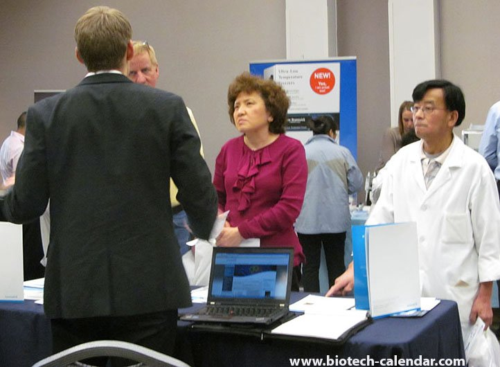 Market life science lab supplies to St. Louis researchers.