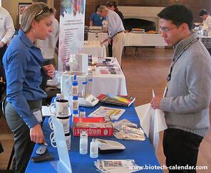 Researchers discover the latest life science equipment  at the Georgetown University BioResearch Product Faire™ event.