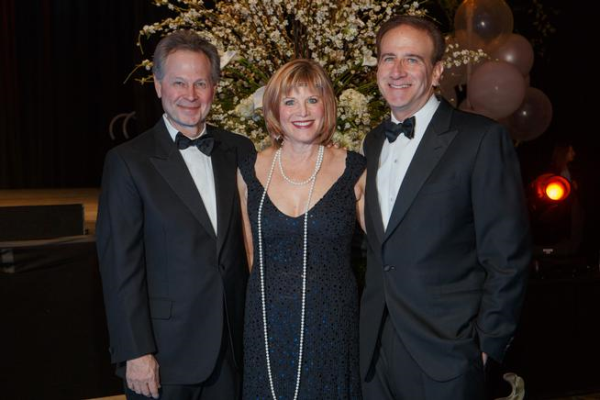 Cole and Robin Finegan, left, with Dr. Michael Salem, the president  CEO of National Jewish Health resized 600
