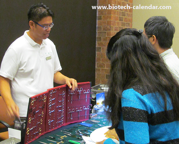 Researchers learn about new lab products at the 5th Annual BioResearch Product Faire™ Event at TJU.