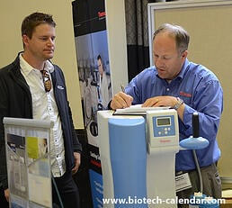 Researchers at at MN BioResearch Product Faire™ discover new lab products.