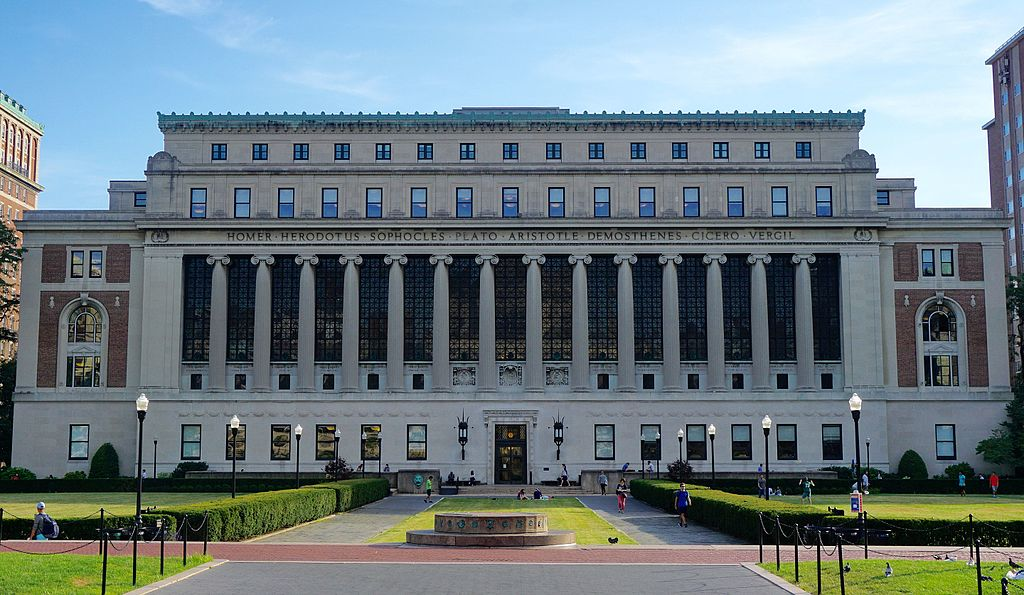 Butler Library at Columbia University in New York.