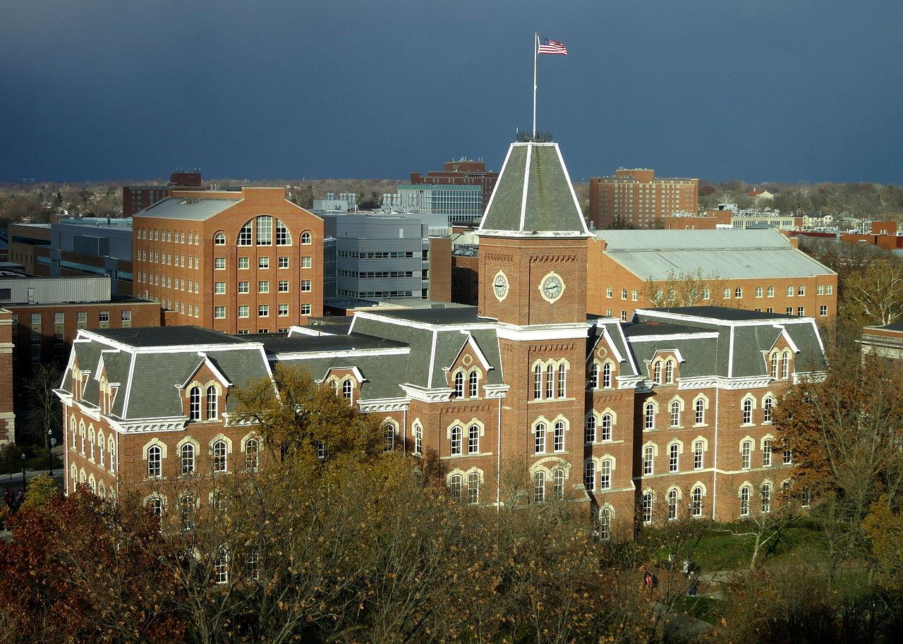 University Hall, Ohio State University in Columbus.