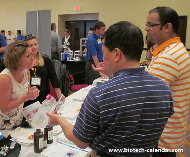 Vendors sell lab products at Rochester vendor fair