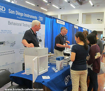 Lab suppliers meet face-to-face with San Diego area researchers at a past Biotechnology Vendor Showcase event.