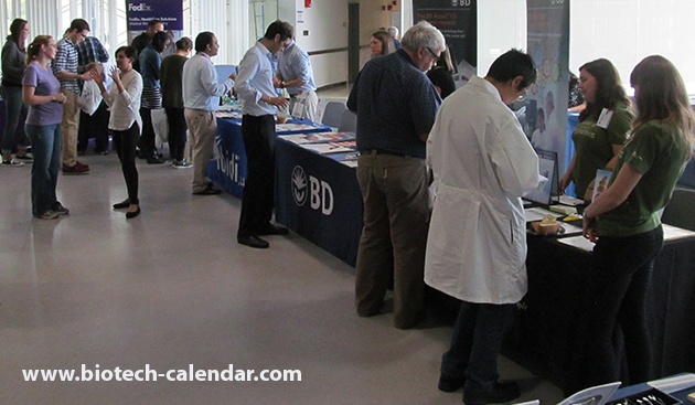 Life science researchers discuss latest research supplies and technologies with product specialists at 2015's event