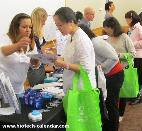 Researchers at last year's trade fair event